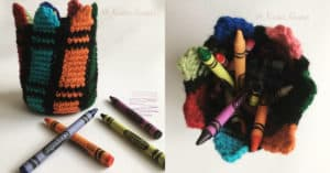 Colorful crayon holder - Collage
