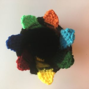Colorful crayon holder - top