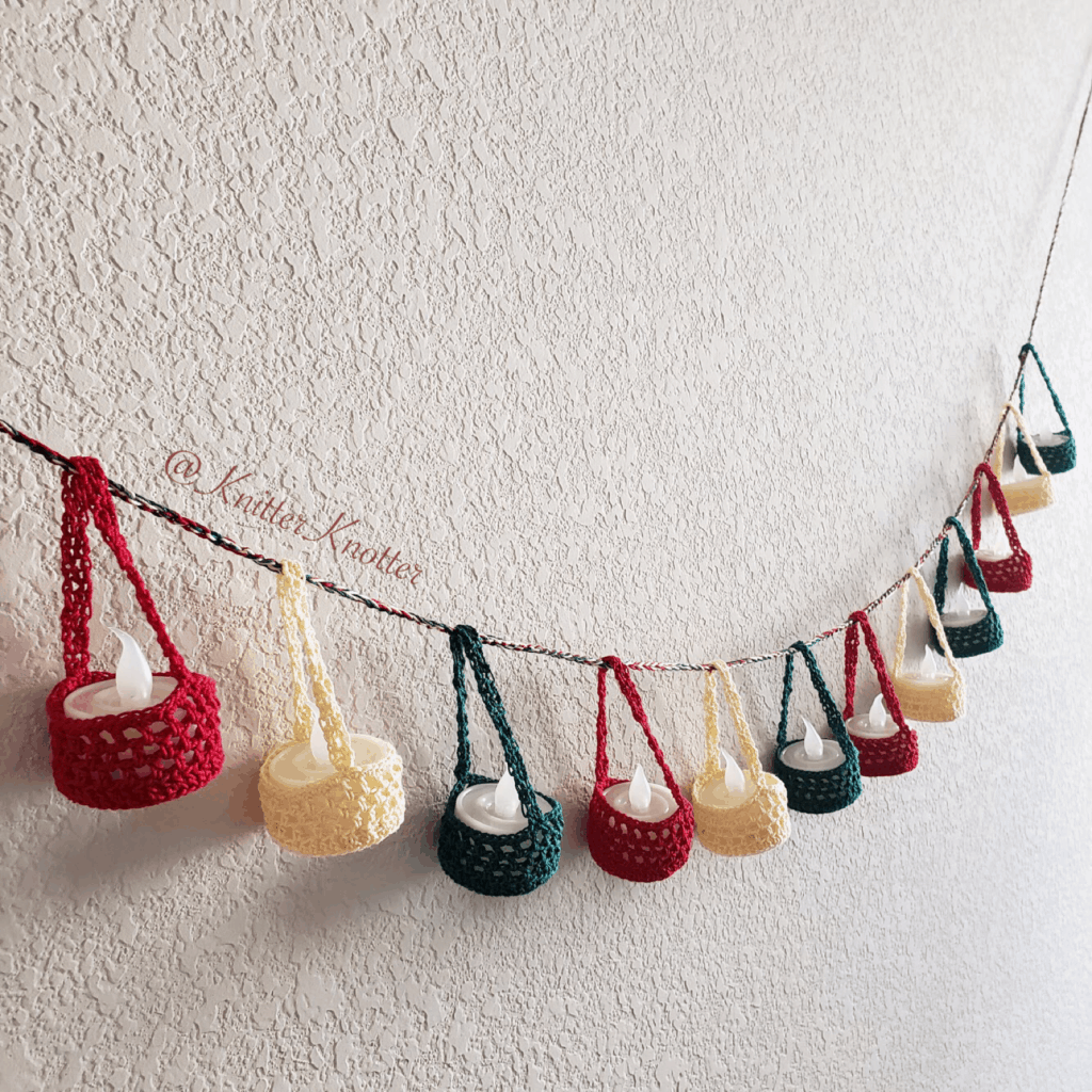 The Kandeel - tea light candle cozy lantern - garland angled