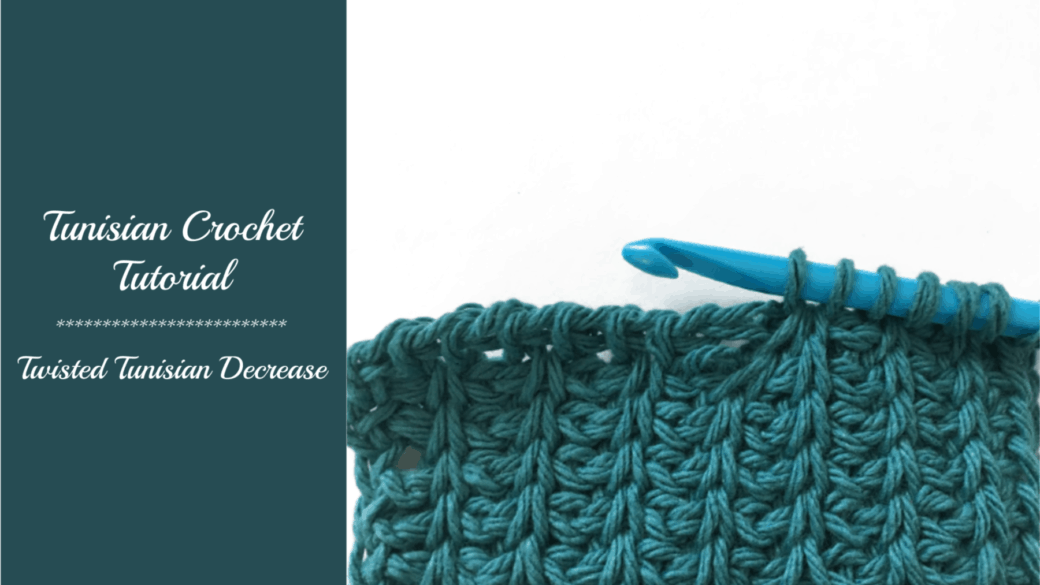 Tunisian crochet tutorial – Twisted Decrease