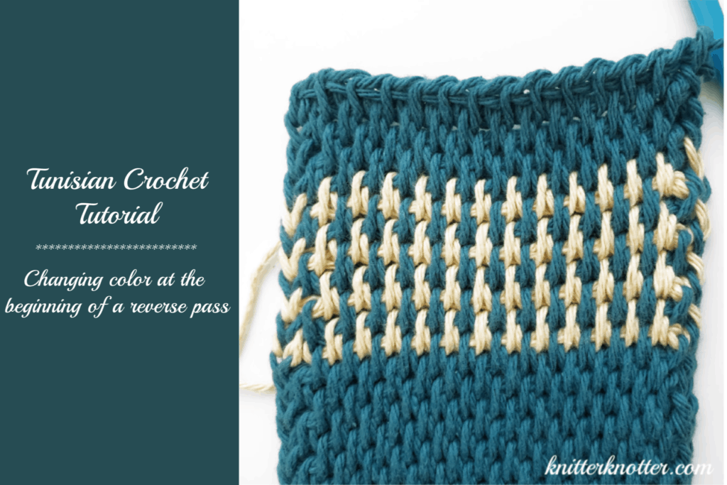 Tunisian Crochet Tutorial Changing Color At The Beginning Of The