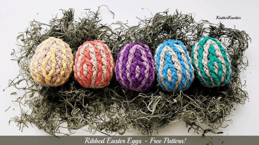 Ribbed Easter Eggs