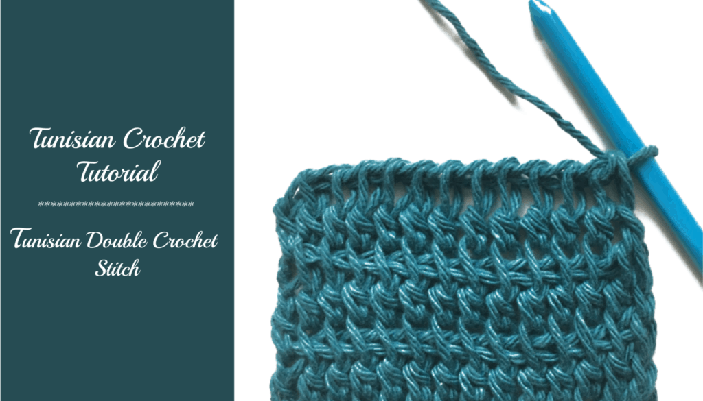 Tunisian crochet tutorial – Double Crochet (tdc)