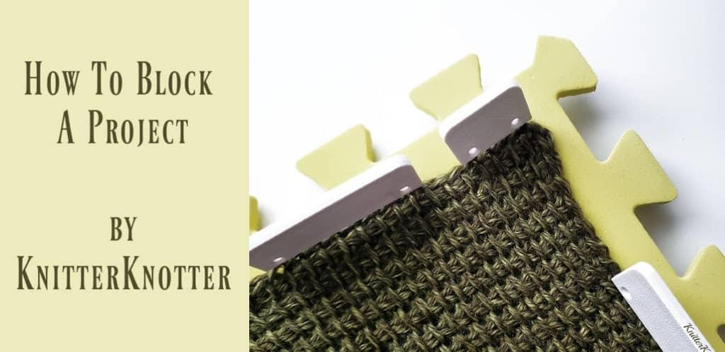 Blocking crochet projects