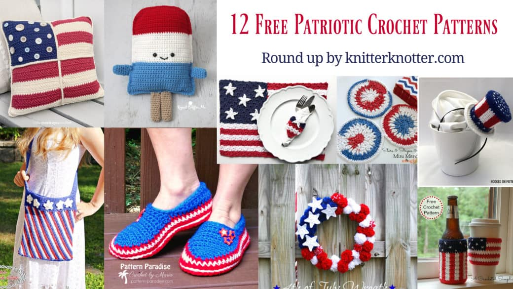 12 Free patriotic crochet patterns for July 4th