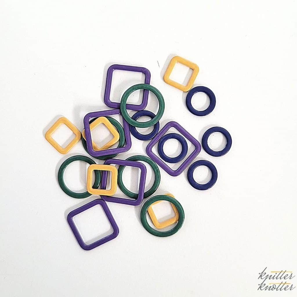 Tunisian crochet ginger set review - metallic stitch markers