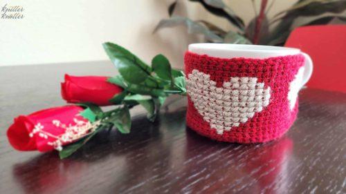 Easy Tunisian Crochet Mug Cozy – Free Pattern
