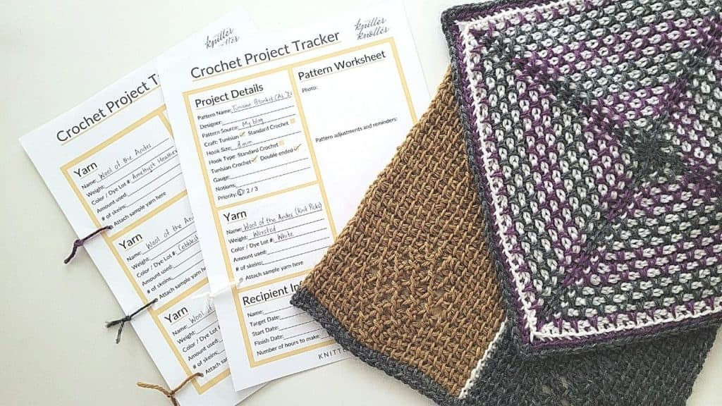 Get this free printable crochet project planner and make your life easy by saving all the information you need to work on a project in one place. Even if you forget the details when you put it down, you don't have to worry about a thing! You can save all the details including the yarn, hook, pattern and recipient.