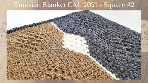 Tunisian Crochet Blanket CAL 2021 – Square #2