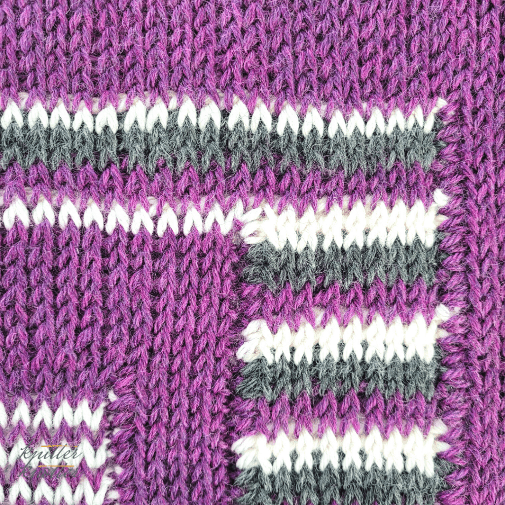 Close up of the centre of square #4  of the crochet afghan from KnitterKnotter Blanket CAL of 2021