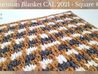 Feature image for the third square of the Tunisian Blanket CAL of 2021 hosted by KnitterKnotter