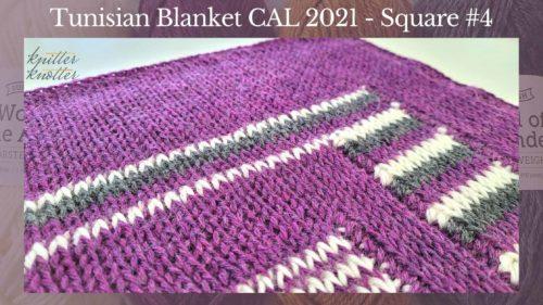 Tunisian Crochet Blanket CAL 2021 – Square #4