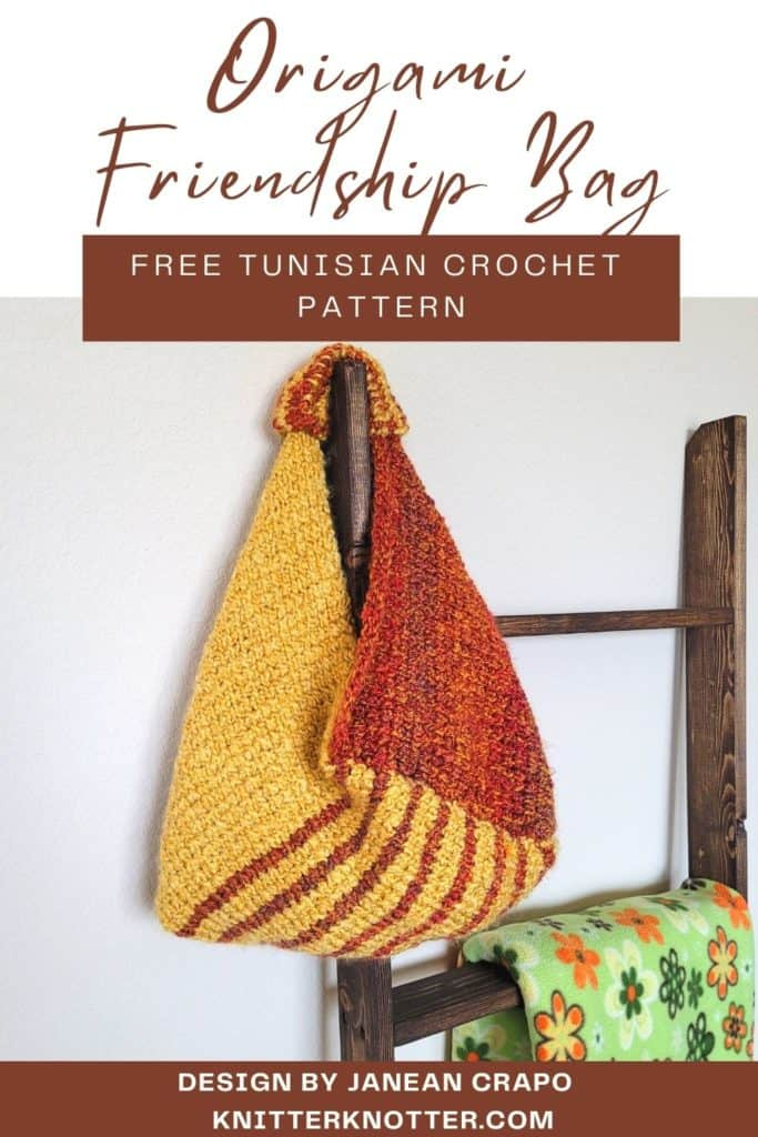 Pin - This Tunisian crochet handbag can be made with any number of stitches and is a great pattern for beginners. It is made from one rectangle only.