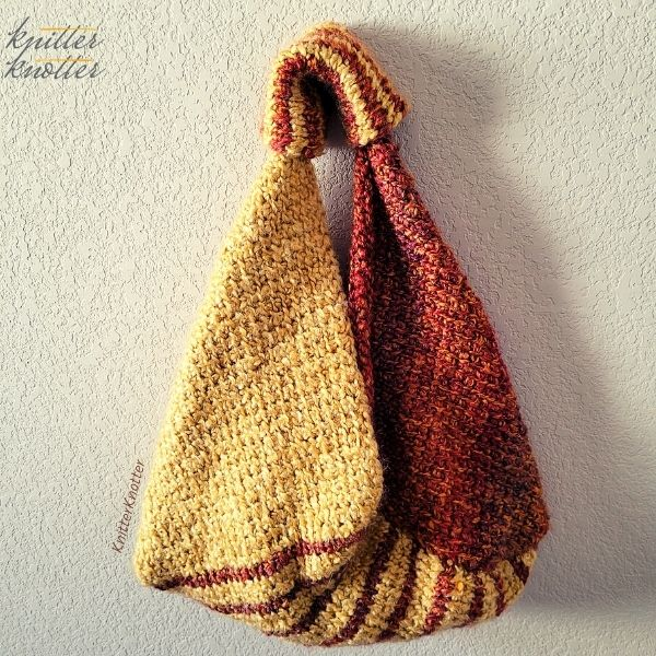 The free Tunisian crochet handbag pattern is beginner friendly. It comes with video tutorials for the stitches used.