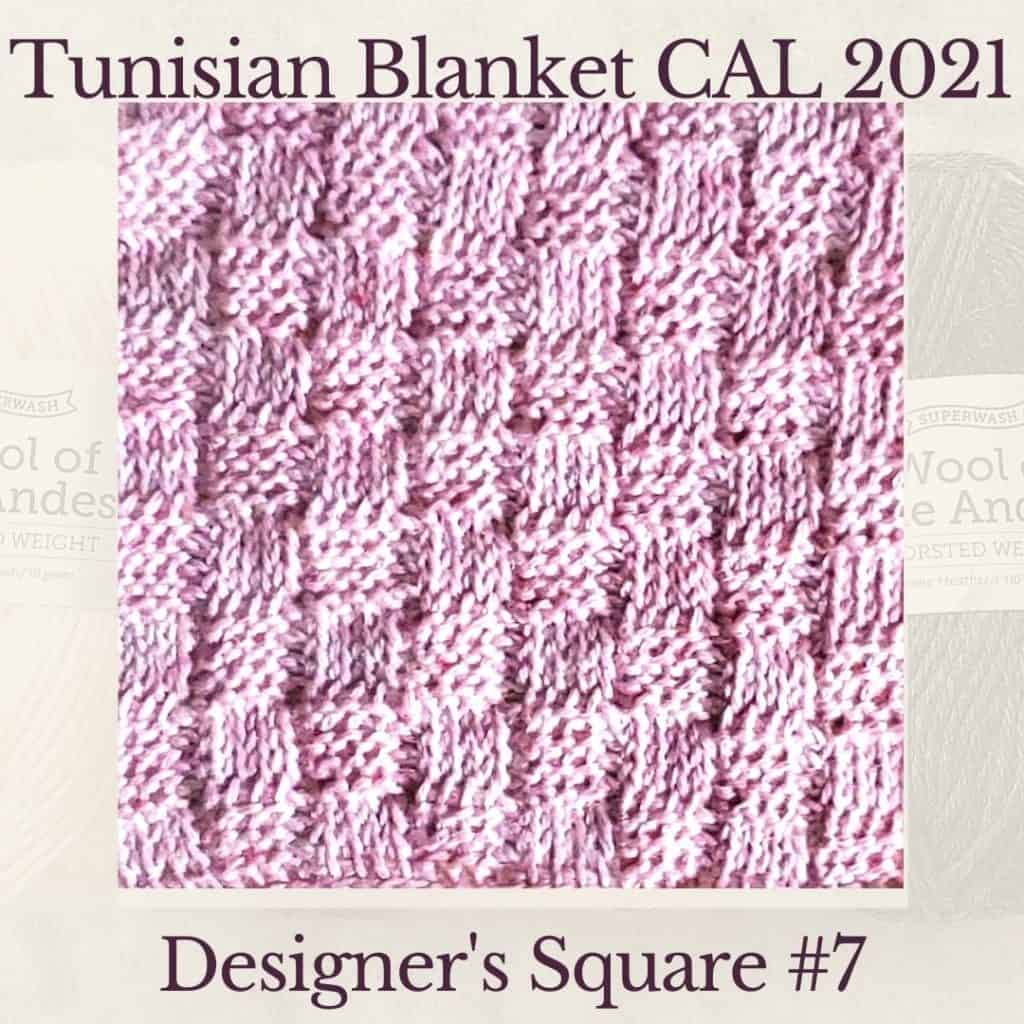 The seventh square crochet afghan pattern from the KnitterKnotter blanket CAL of 2021