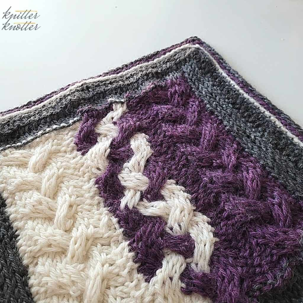 Crochet stitches for blankets - used Tunisian Knit Stitch, Tunisian Purl Stitch - combined to make a cabled pattern.