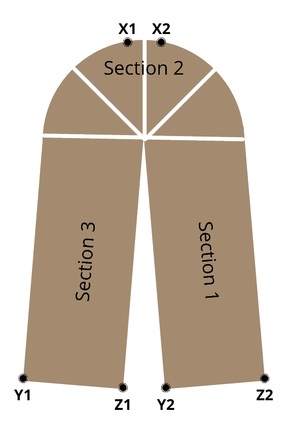 Construction diagram for the Tunisian Crochet Slippers by KnitterKnotter