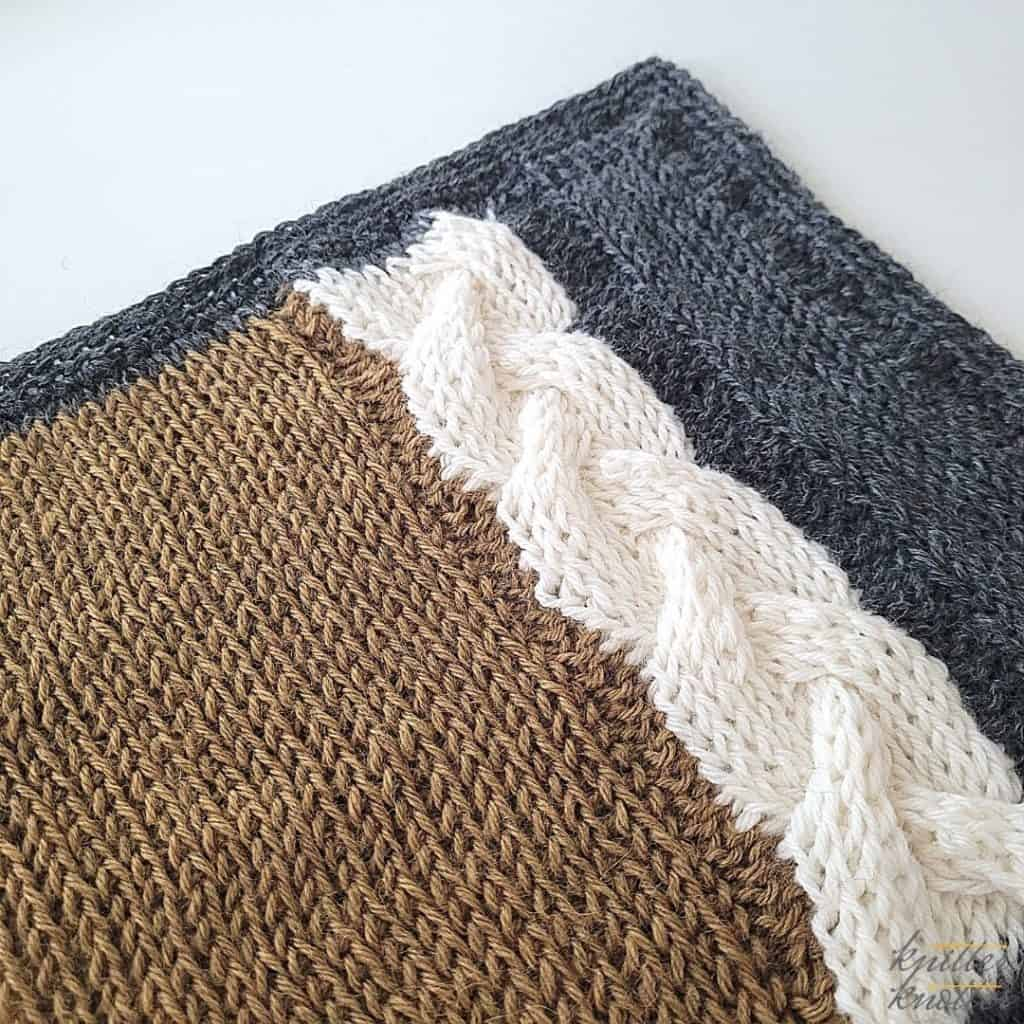Crochet stitches for blankets - used tunisian knit stitch and tunisian purl stitch worked together.