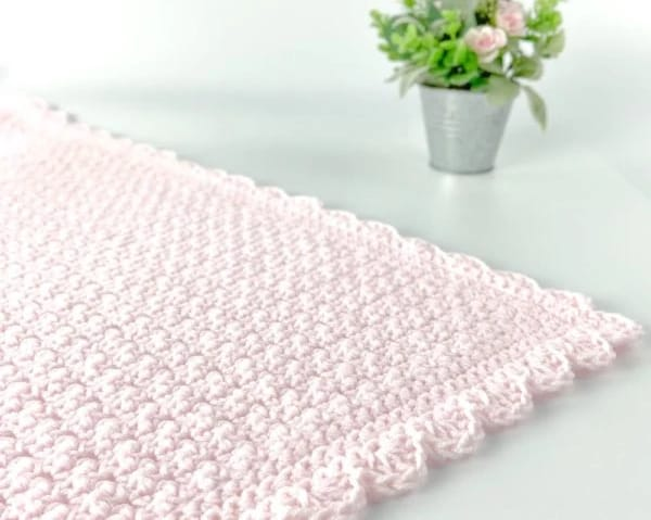 Simple Baby Blanket by Jo to the World made using the Lemon Peel Stitch - #13 in the 20 Unique and Beautiful Crochet Blankets Round Up by Knitterknotter.