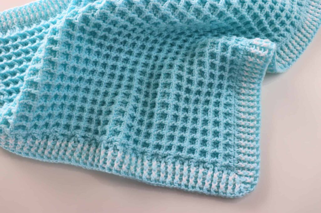 Waffle Stitch Baby Blanket by Sirin's Crochet - #18 in the 20 Unique and Beautiful Crochet Blankets Round Up by Knitterknotter.